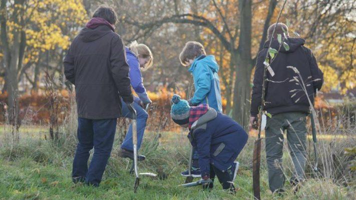 Nuns Moor Park Tree Planting Nov 16