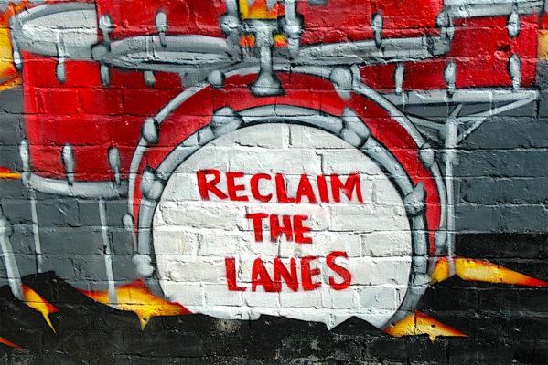 reclaimthelanes mural crop