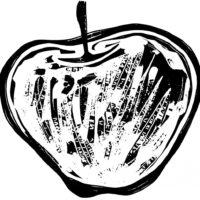 woodcut-apple